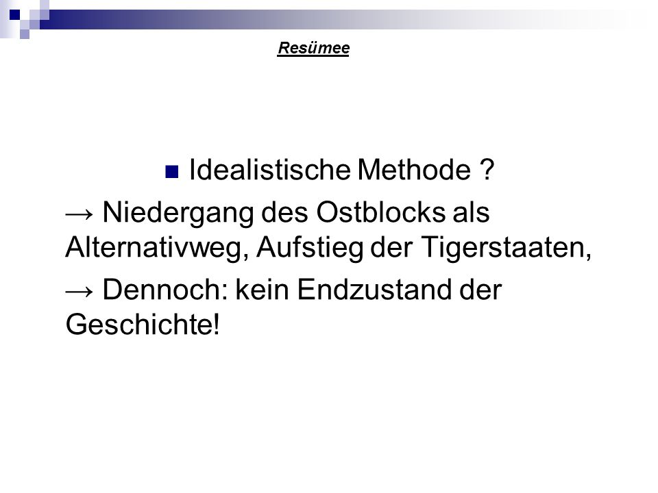 Idealistische Methode