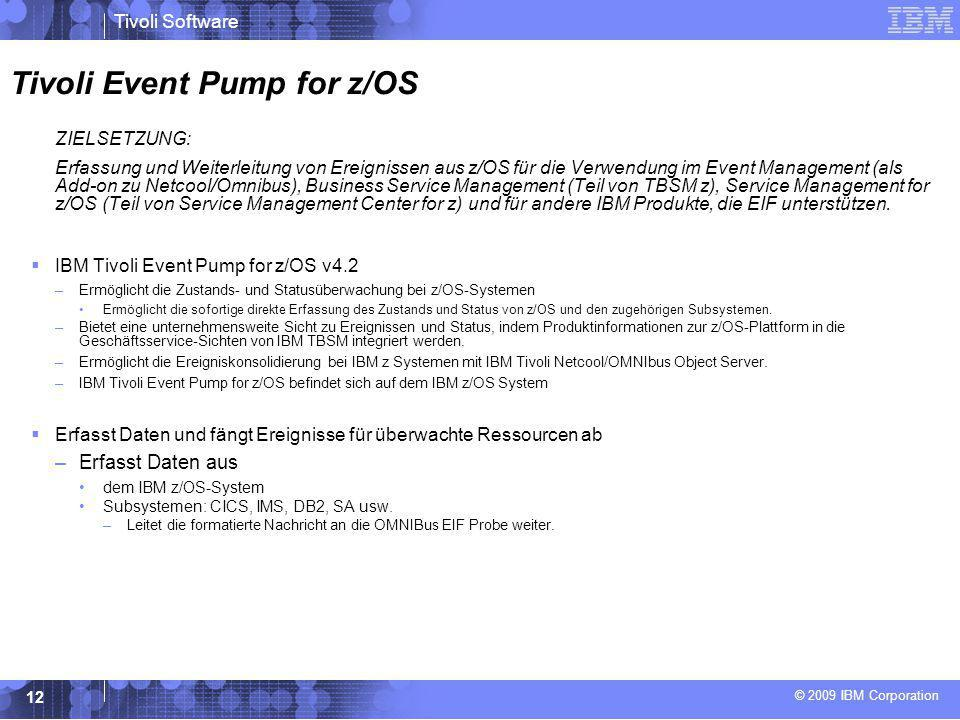 Tivoli Event Pump for z/OS