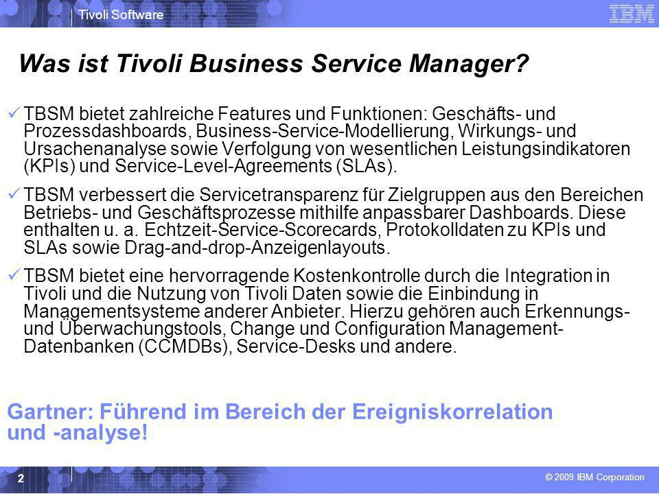 Was ist Tivoli Business Service Manager