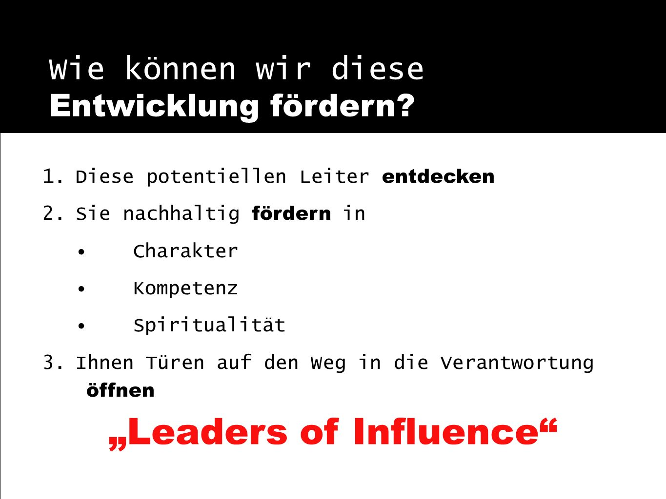"""Leaders of Influence"