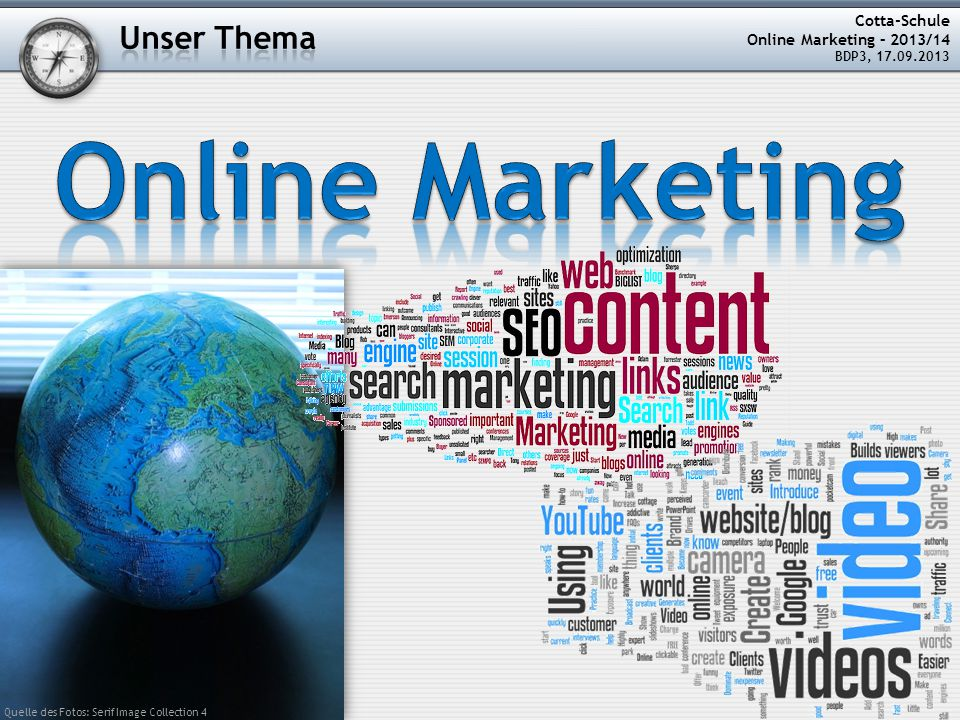 Online Marketing Unser Thema Cotta-Schule Online Marketing – 2013/14