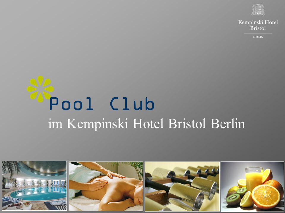 Pool Club im Kempinski Hotel Bristol Berlin