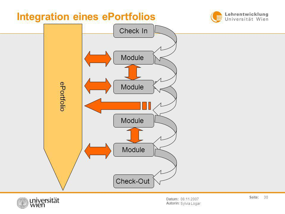 Integration eines ePortfolios