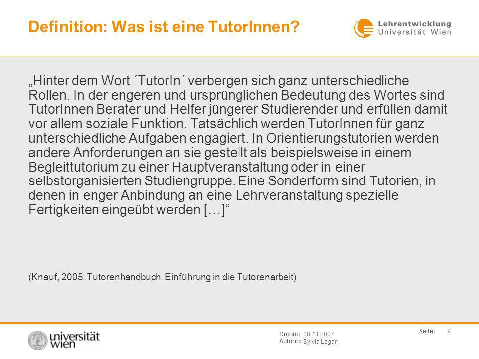 Definition: Was ist eine TutorInnen