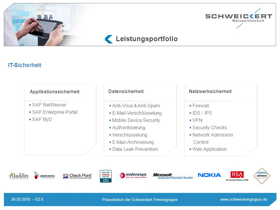 Leistungsportfolio IT-Sicherheit Applikationssicherheit
