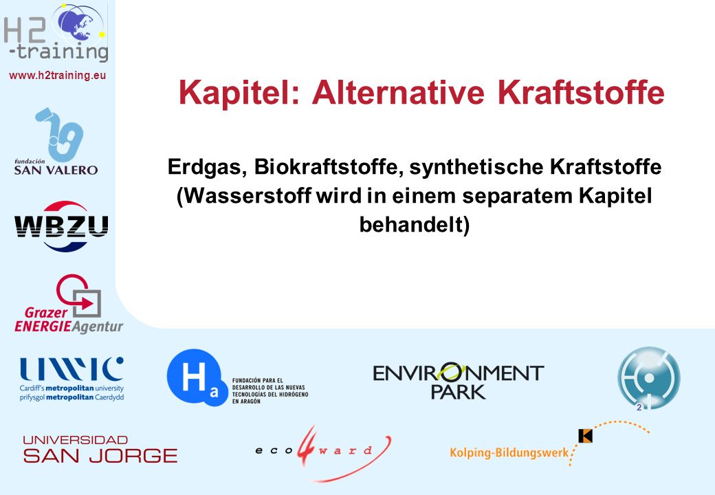 Kapitel: Alternative Kraftstoffe