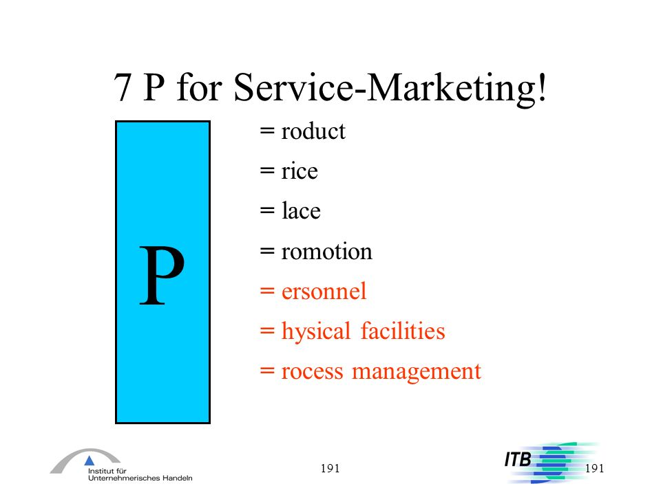 7 P for Service-Marketing!