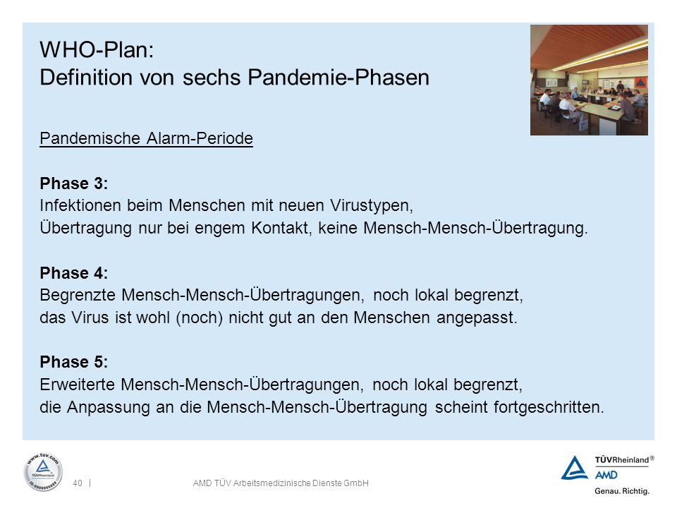 WHO-Plan: Definition von sechs Pandemie-Phasen