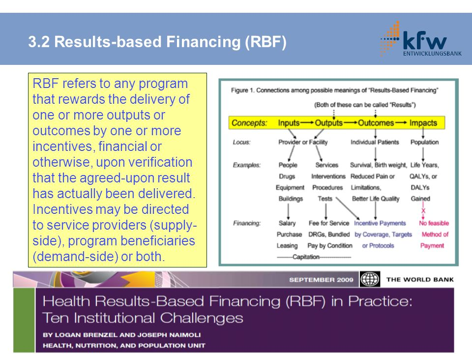 3.2 Results-based Financing (RBF)