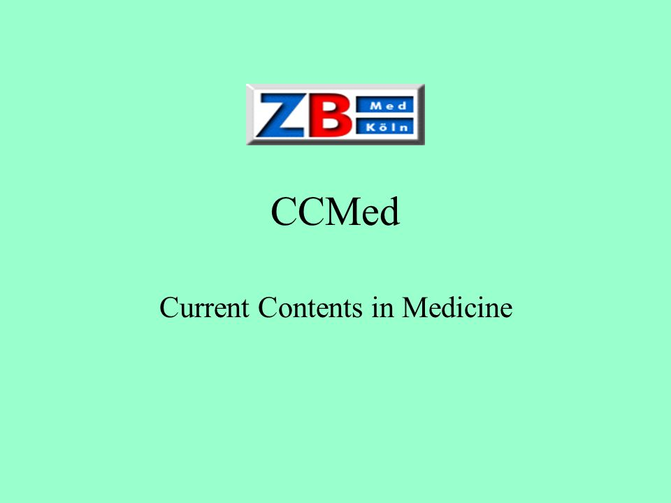 Current Contents in Medicine