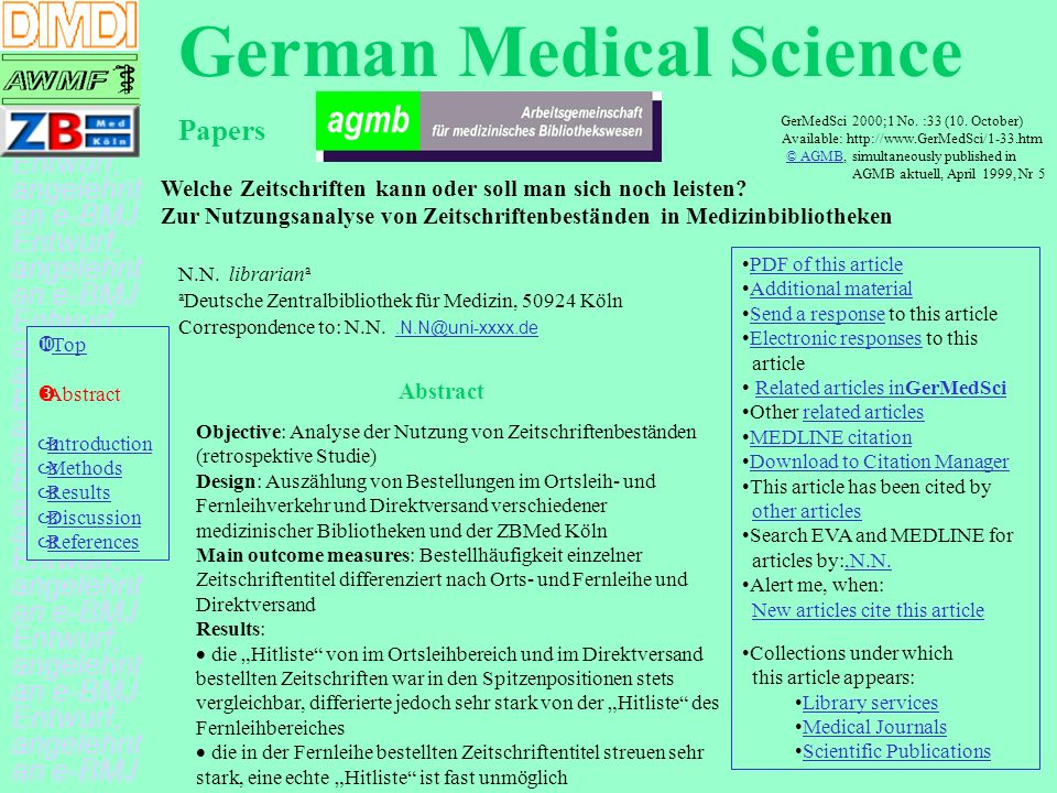 German Medical Science