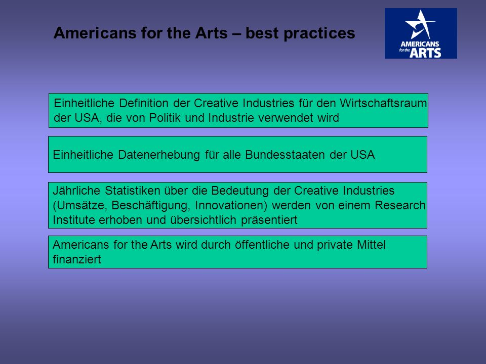 Americans for the Arts – best practices