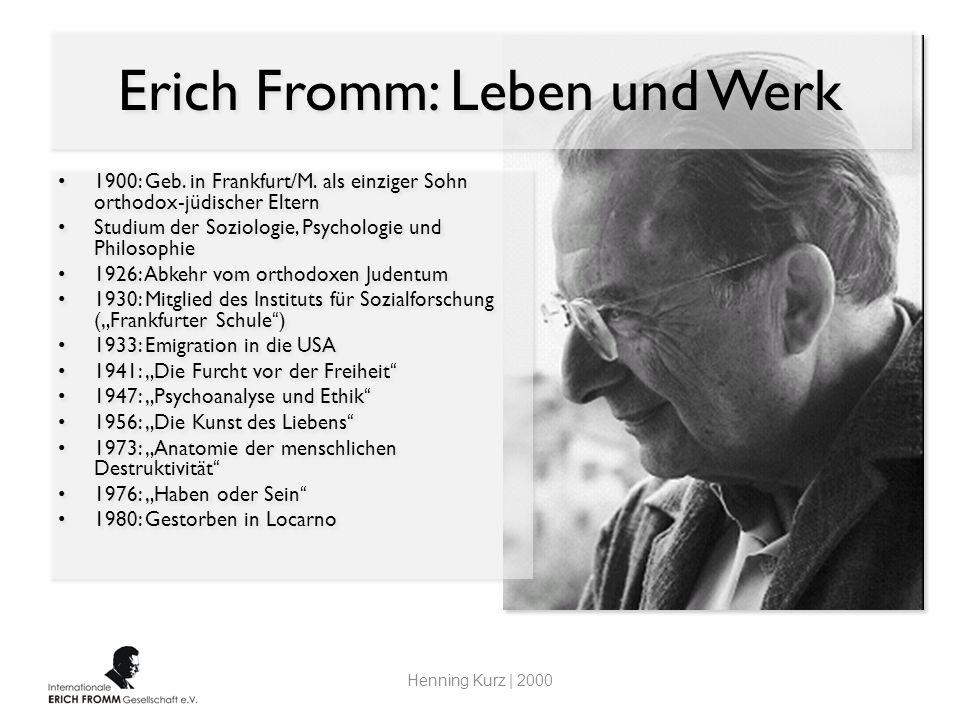 Erich Fromm Ein fast vergessener Klassiker der Sozialpsychologie ...