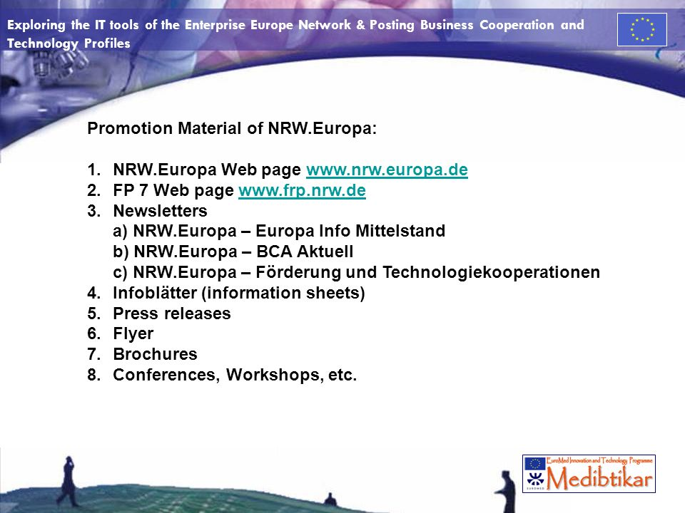 Promotion Material of NRW.Europa: