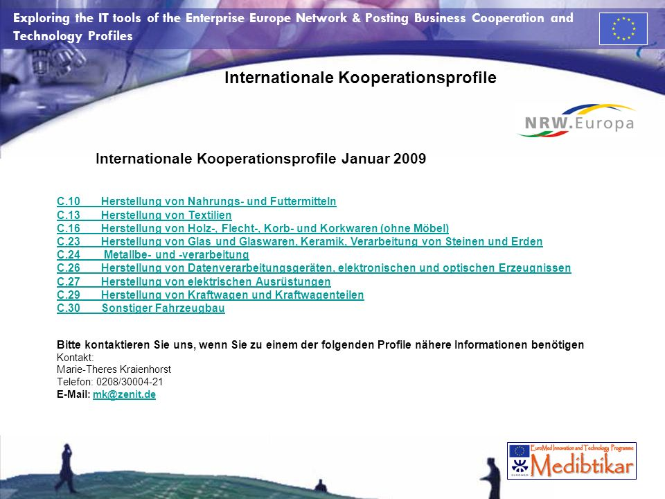 Internationale Kooperationsprofile