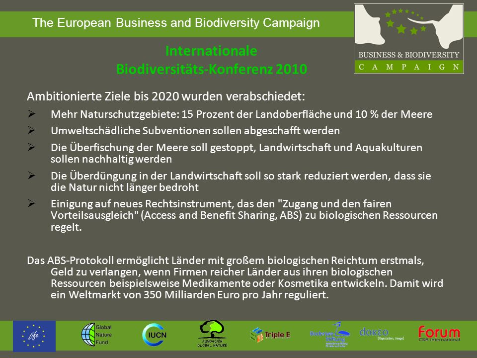 Internationale Biodiversitäts-Konferenz 2010