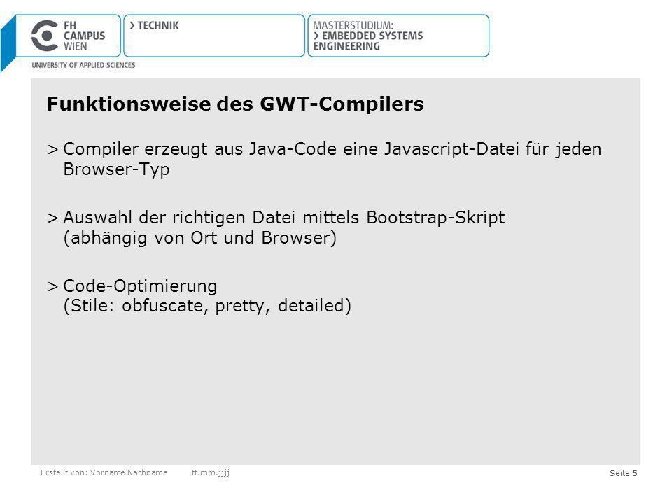Funktionsweise des GWT-Compilers