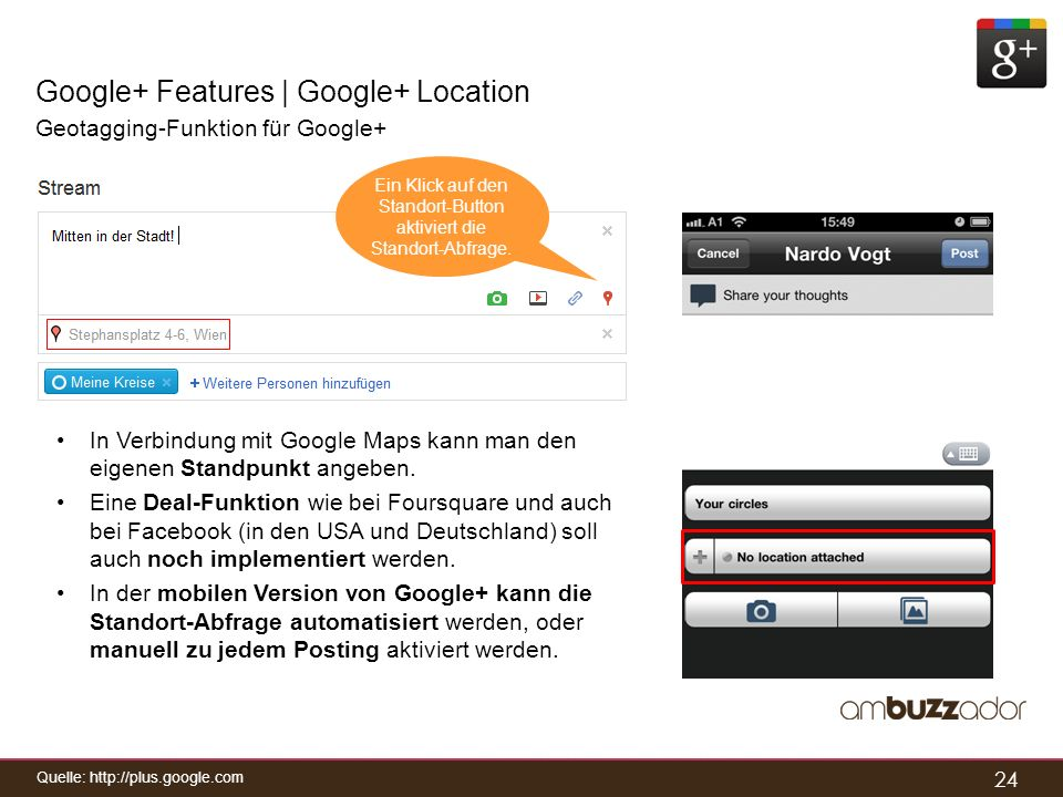Google+ Features | Google+ Location