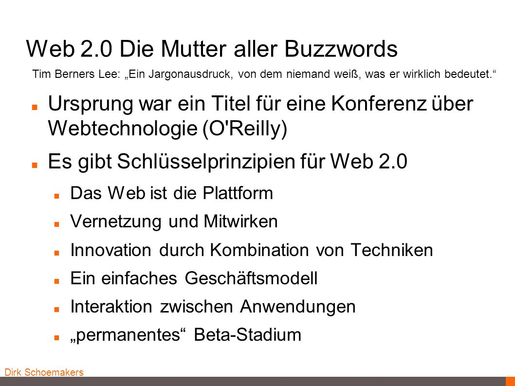 Web 2.0 Die Mutter aller Buzzwords