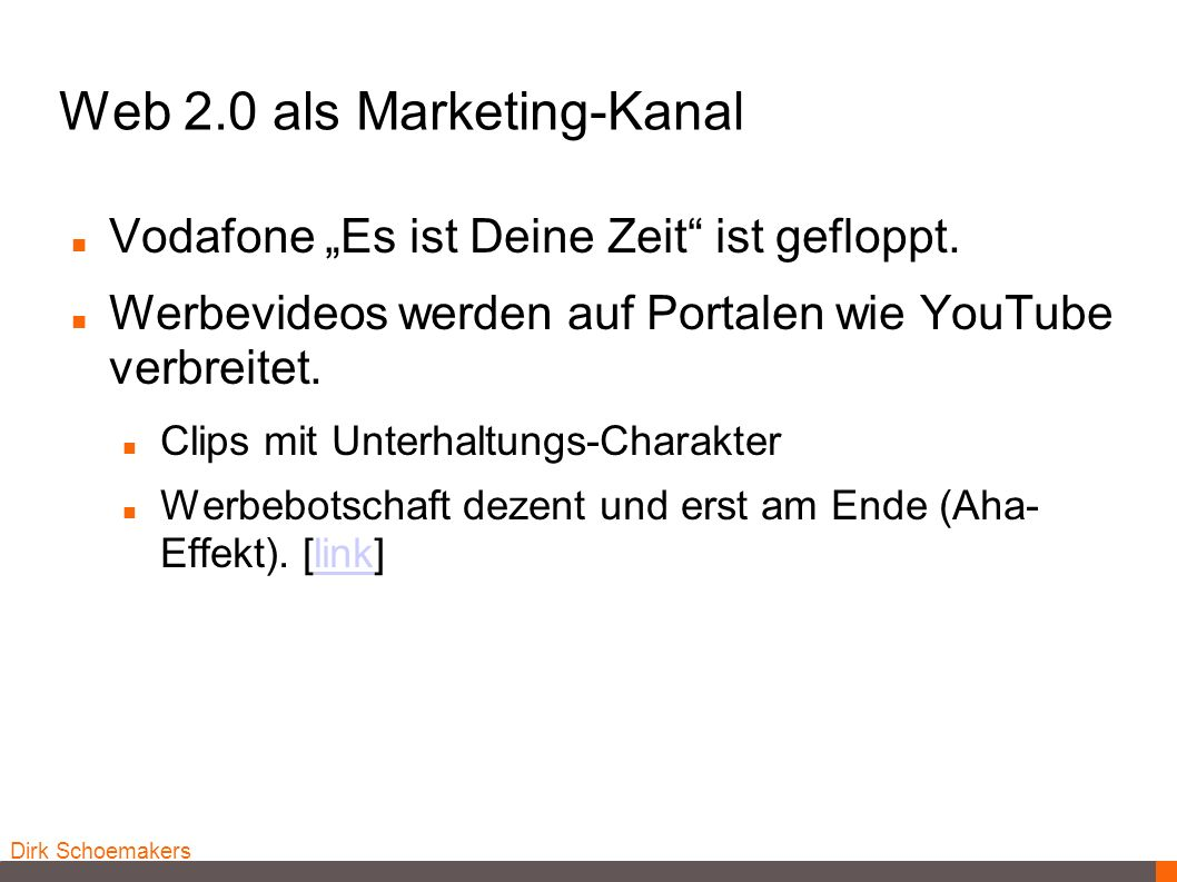Web 2.0 als Marketing-Kanal