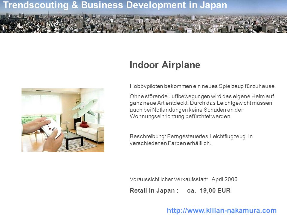 Indoor Airplane Retail in Japan : ca. 19,00 EUR