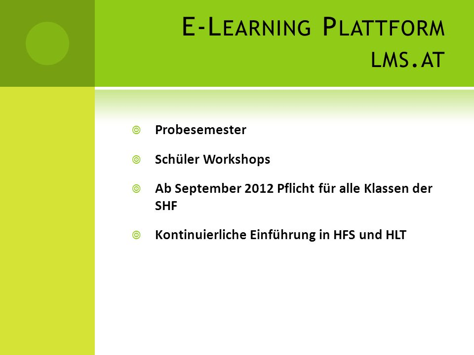 E-Learning Plattform lms.at