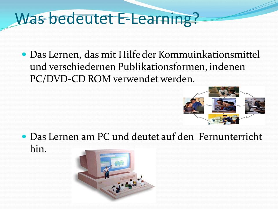 Was bedeutet E-Learning