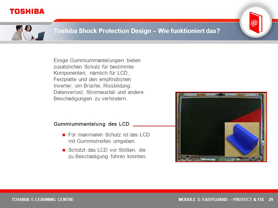 Toshiba Shock Protection Design – Wie funktioniert das
