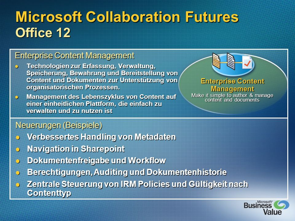 Microsoft Collaboration Futures Office 12