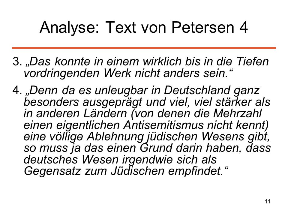 Analyse: Text von Petersen 4
