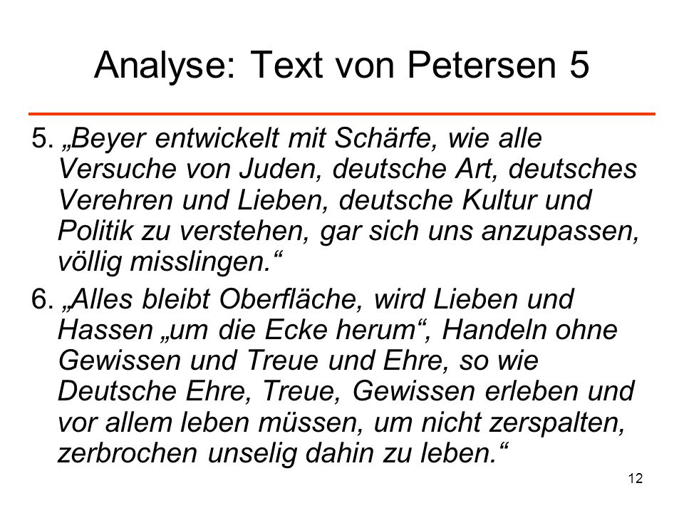 Analyse: Text von Petersen 5
