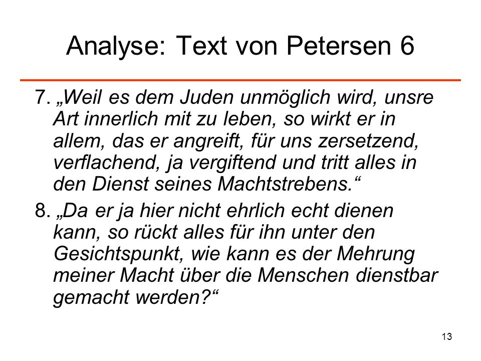 Analyse: Text von Petersen 6