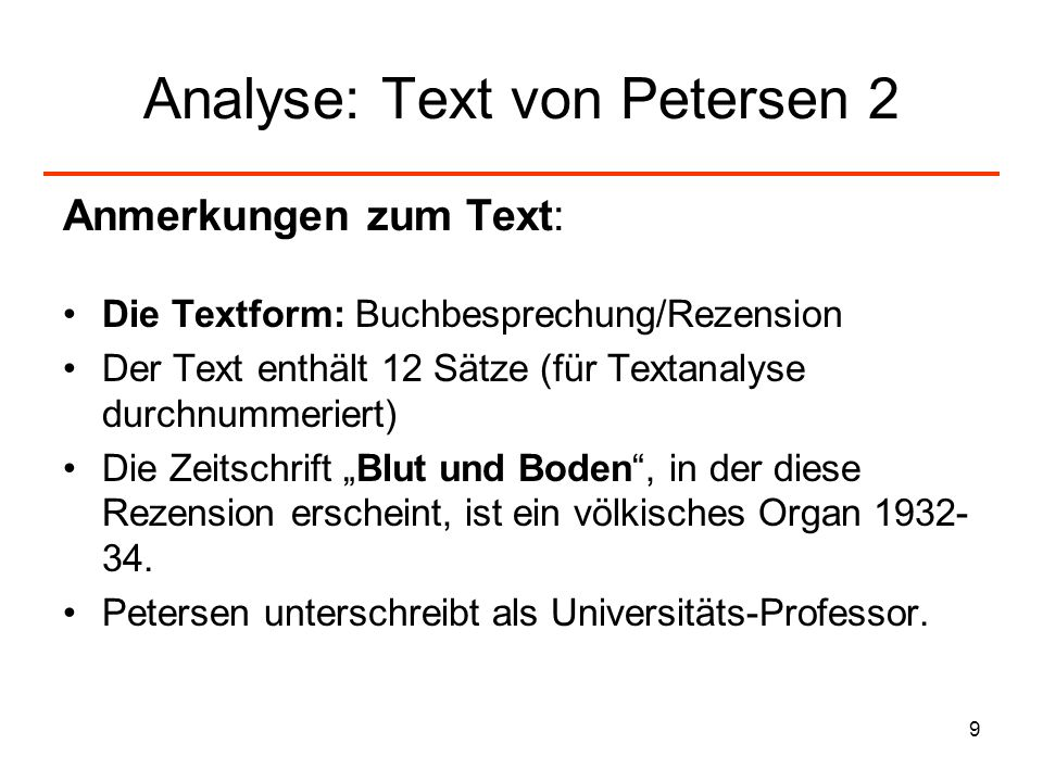 Analyse: Text von Petersen 2