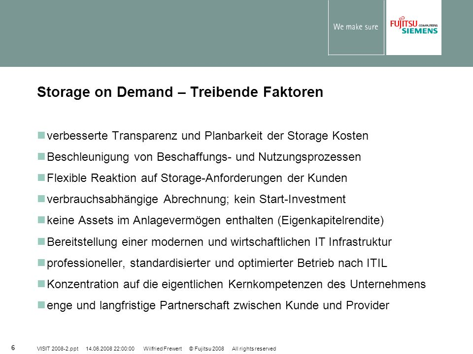 Storage on Demand – Treibende Faktoren