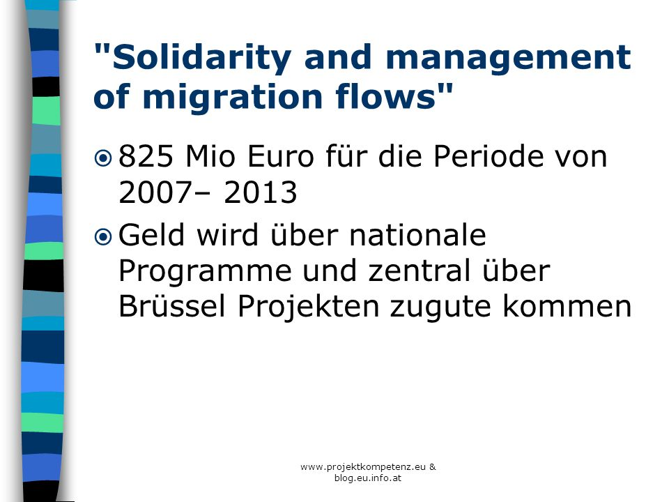 Solidarity and management of migration flows