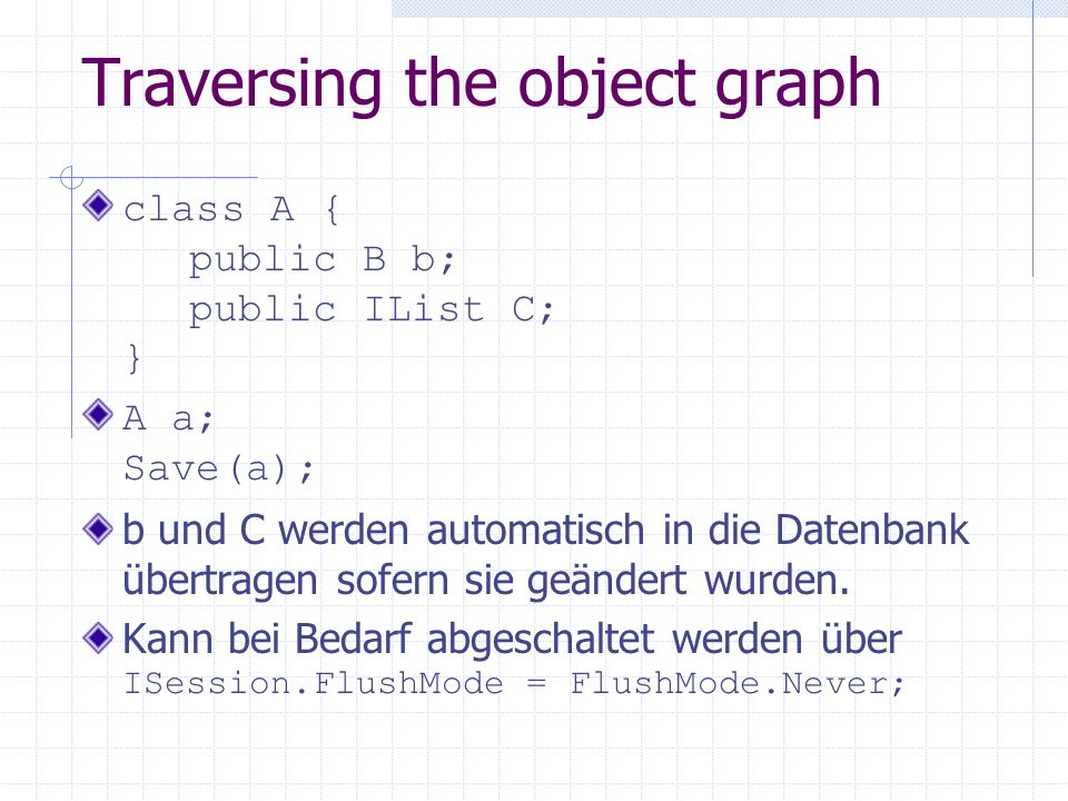Traversing the object graph
