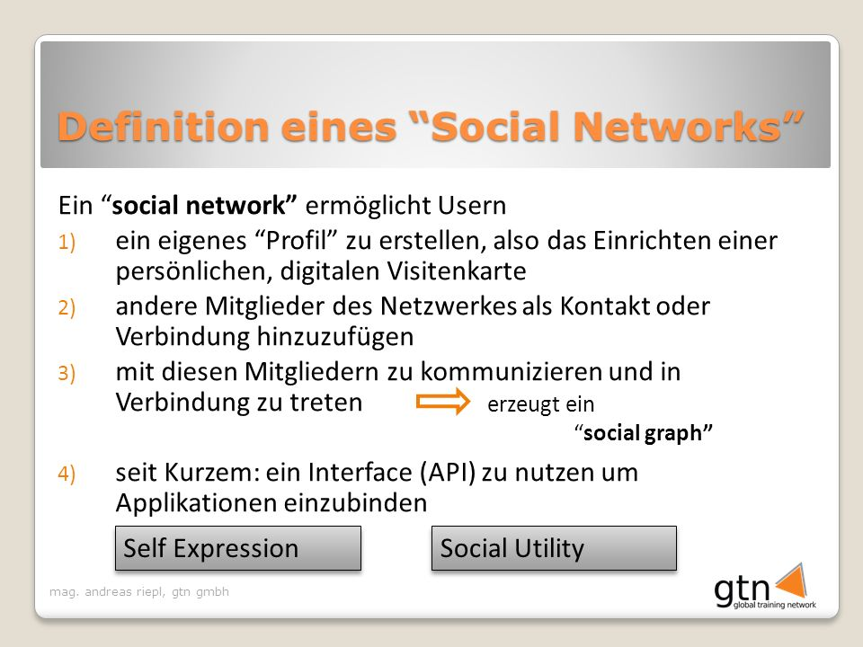 Definition eines Social Networks