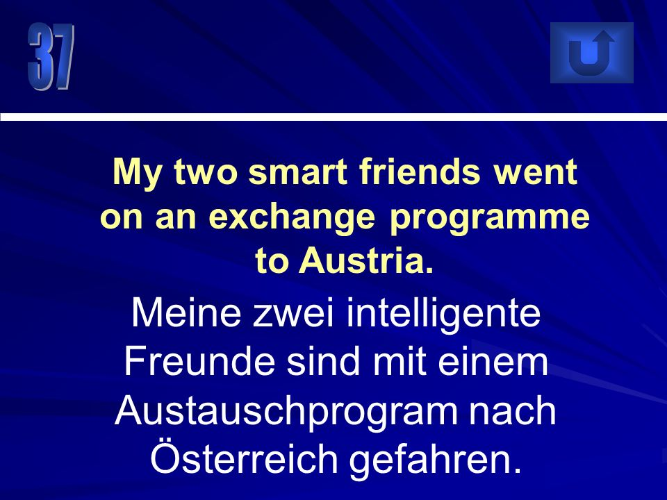 My two smart friends went on an exchange programme to Austria.