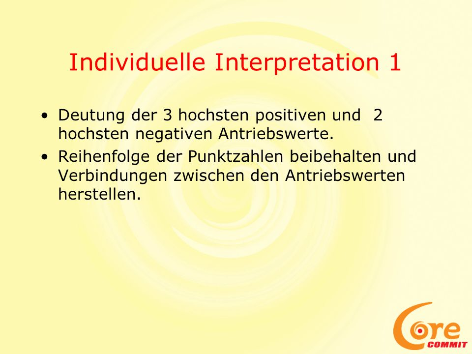 Individuelle Interpretation 1
