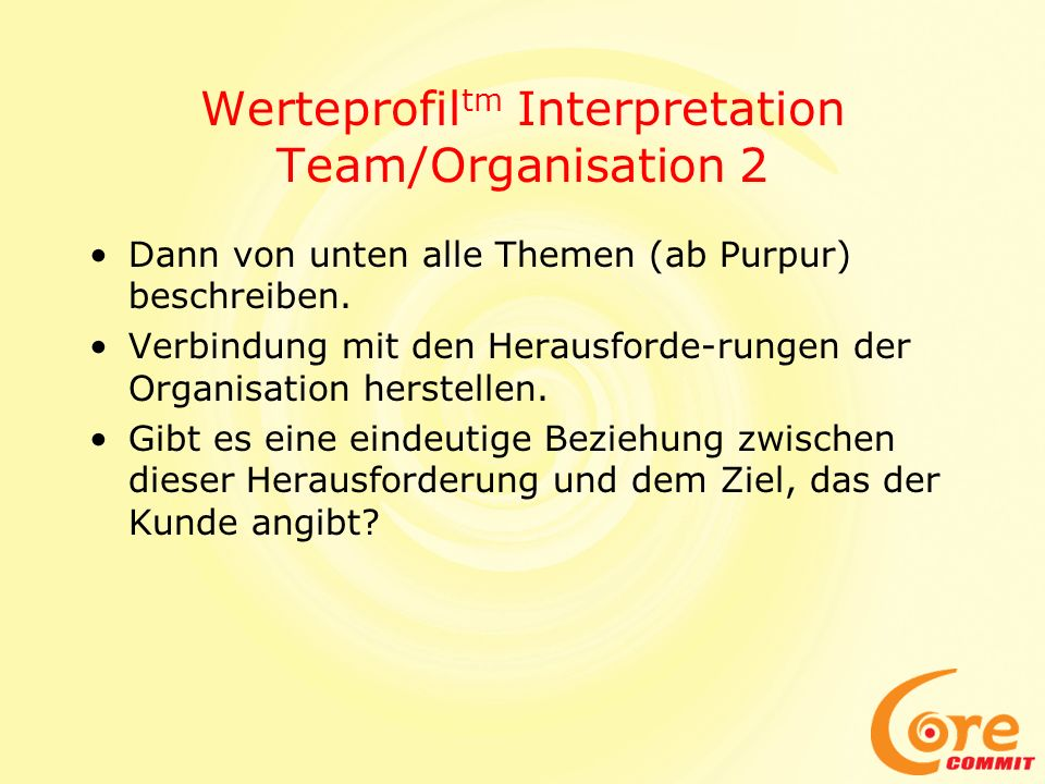 Werteprofiltm Interpretation Team/Organisation 2