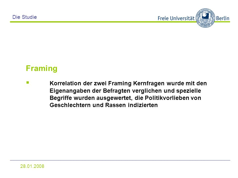 Die Studie Framing.