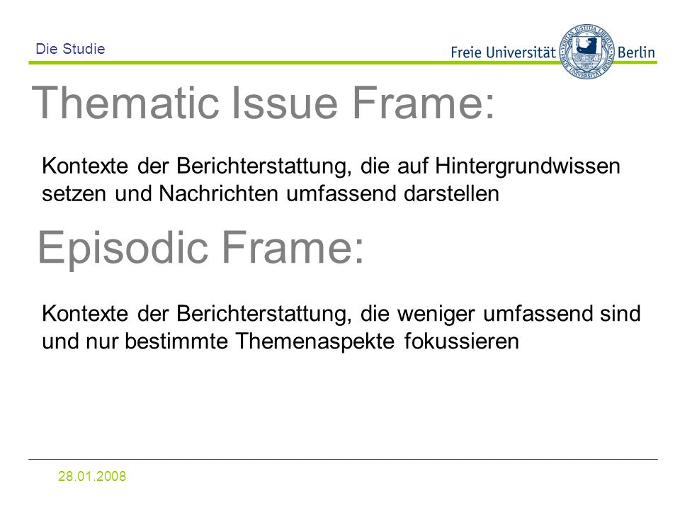 Thematic Issue Frame: Episodic Frame: