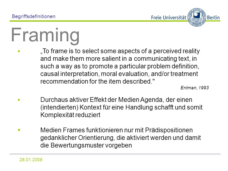 Priming & Framing Proseminar (Kurs B) Wintersemester 2008/ ppt video ...