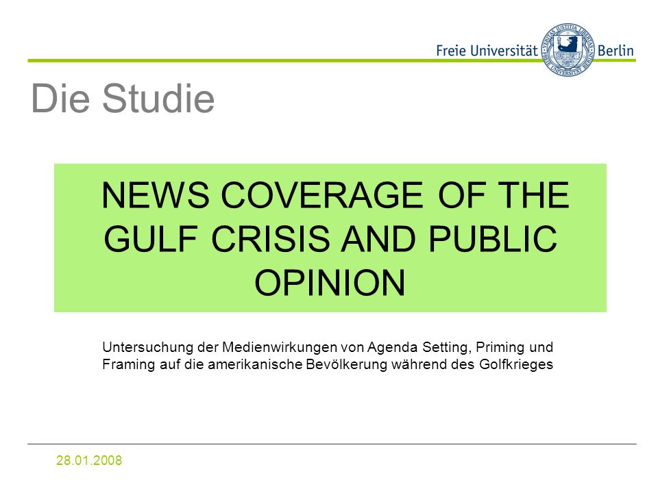 NEWS COVERAGE OF THE GULF CRISIS AND PUBLIC OPINION