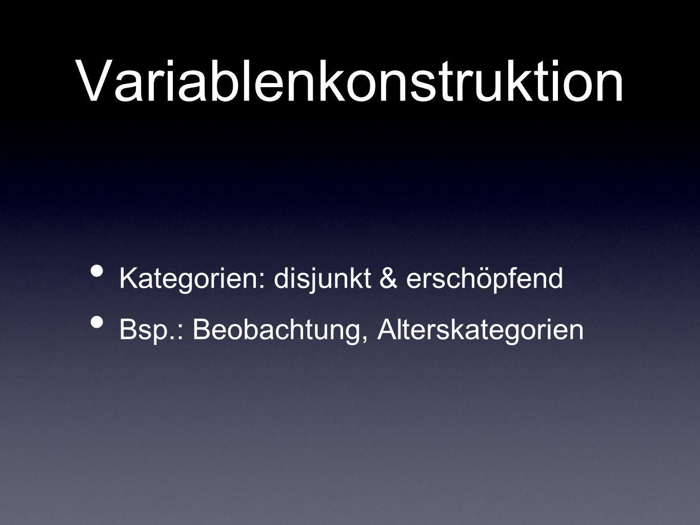 Variablenkonstruktion