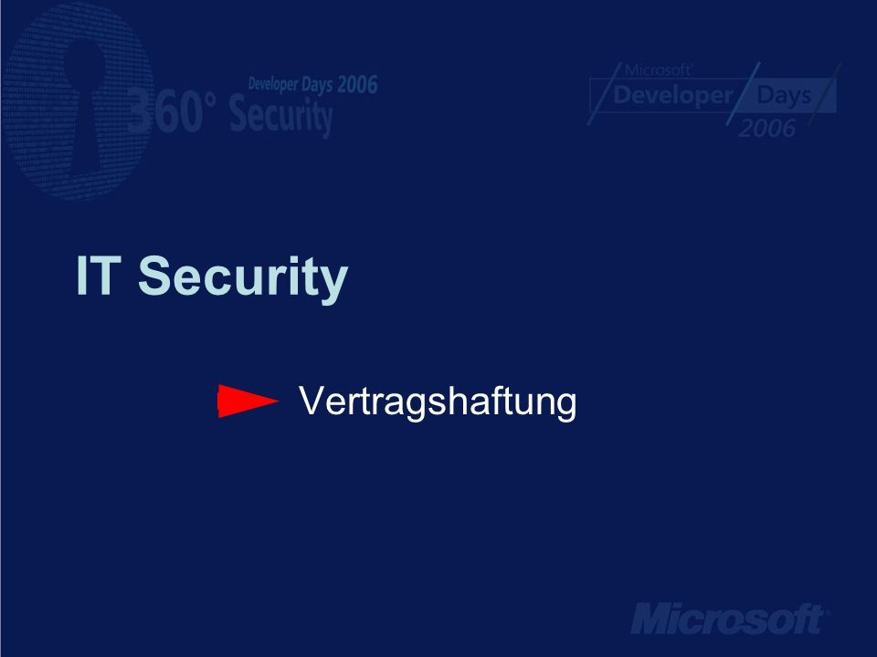IT Security Vertragshaftung
