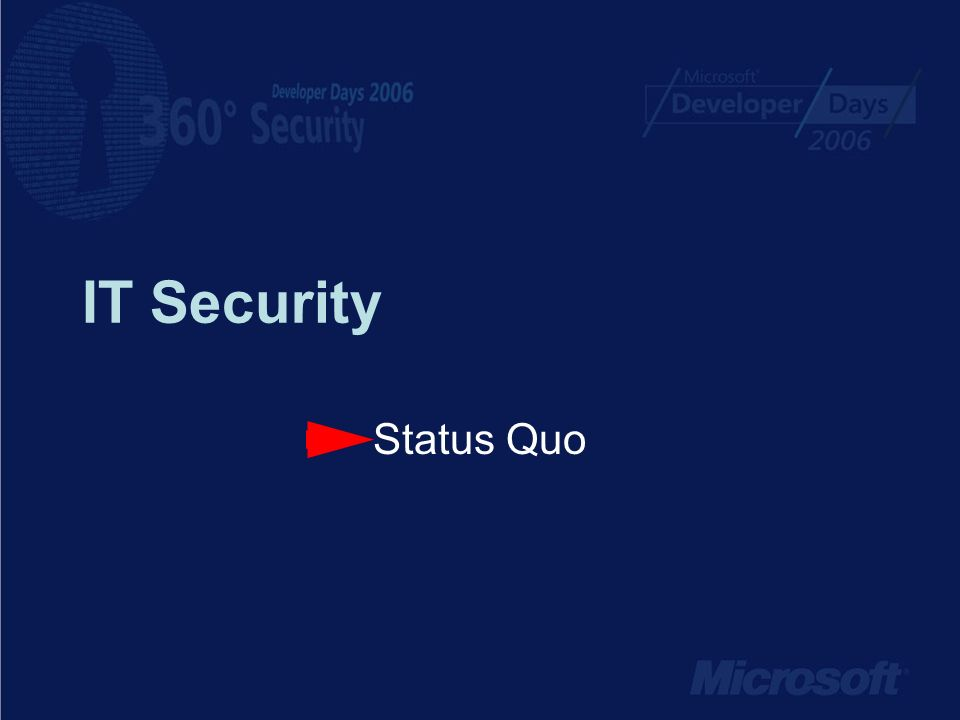 IT Security Status Quo