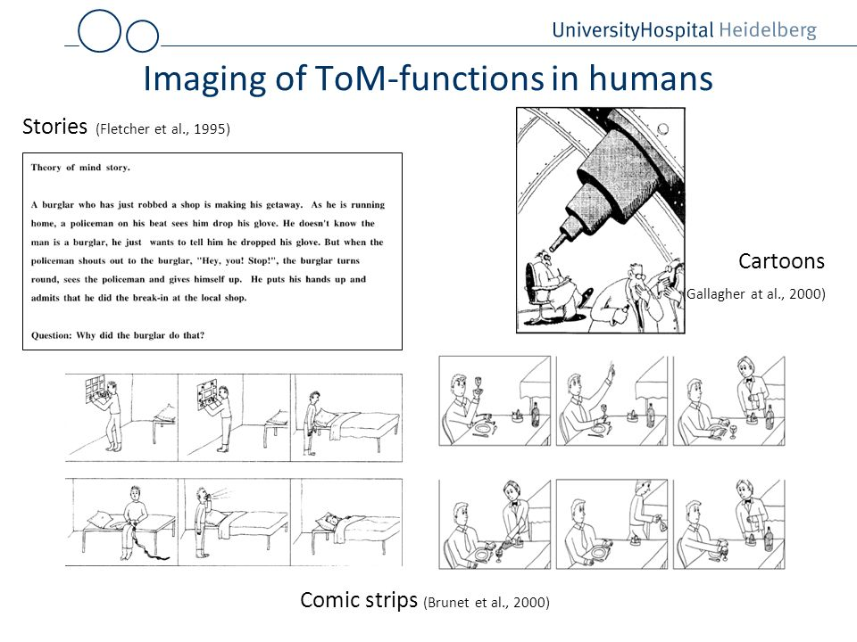 Imaging of ToM-functions in humans