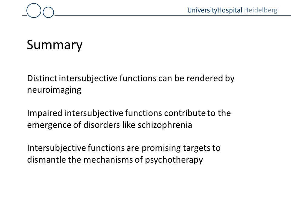 Summary Distinct intersubjective functions can be rendered by neuroimaging.