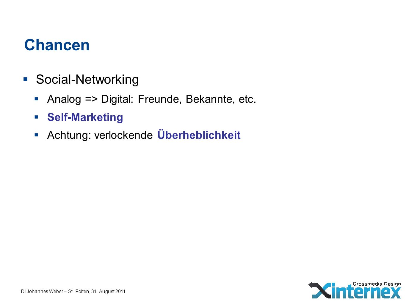 Chancen Social-Networking
